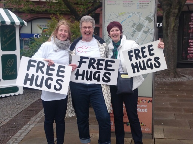 Helen, Parashanti and Dhira in Sheffield